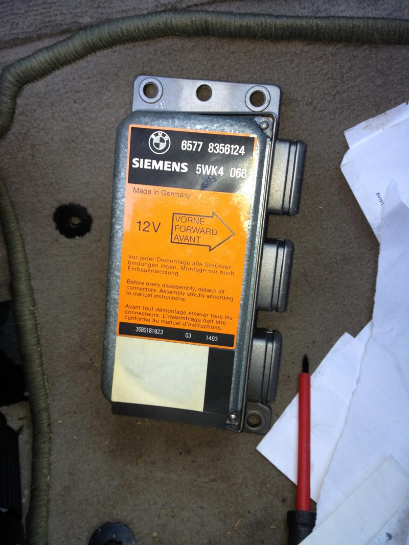 E31 Flashing Srs (Airbag) Light Repair   BryanMcPhail com
