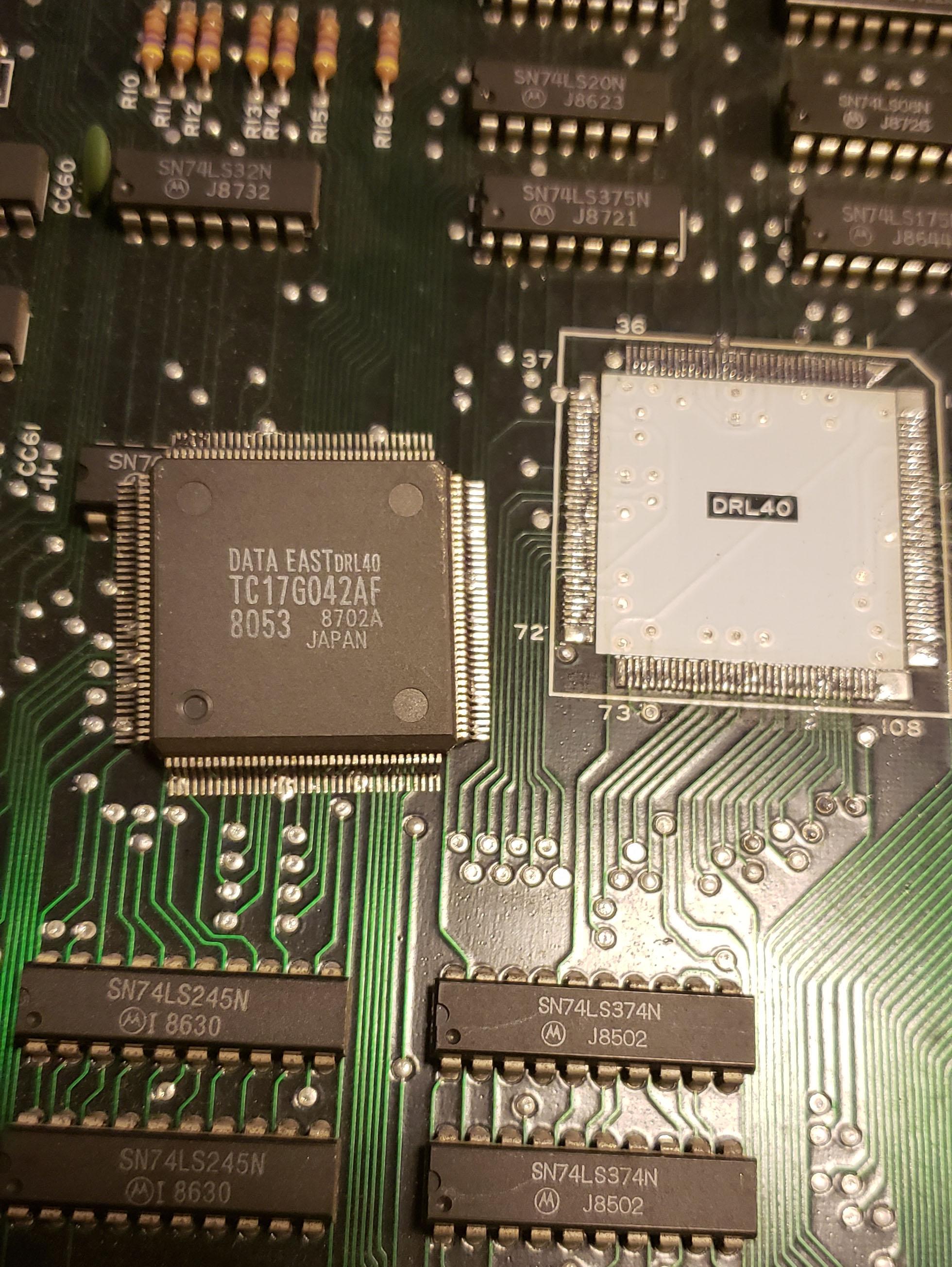 Data East The Real Ghostbusters arcade pcb repair #3
